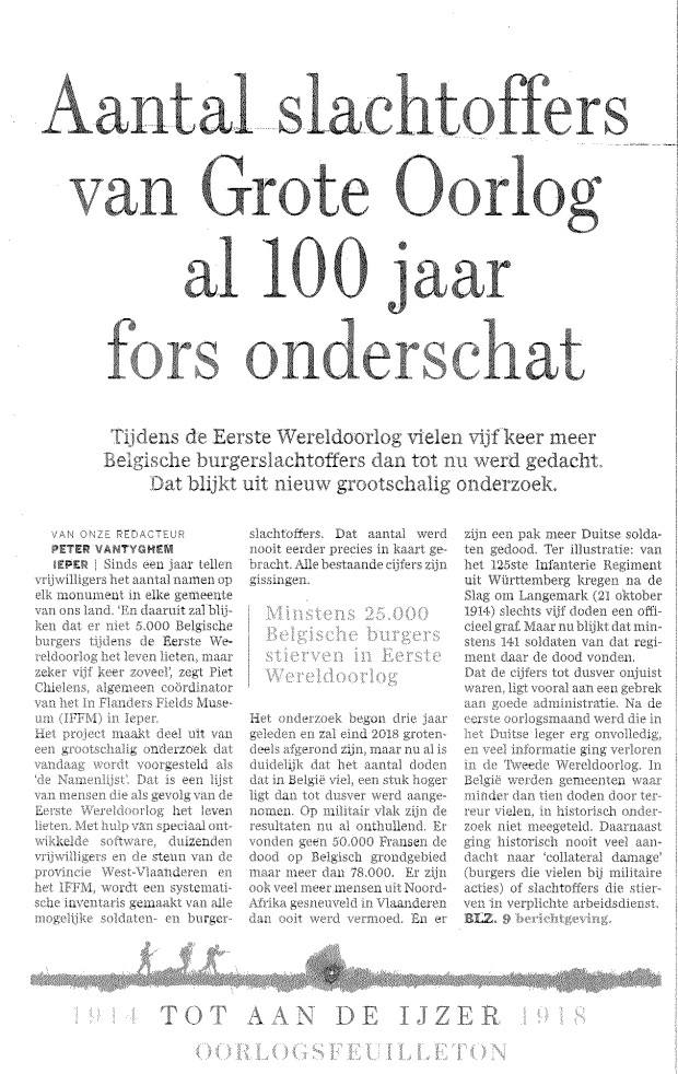 De Standaard (d. 4/8/2014)