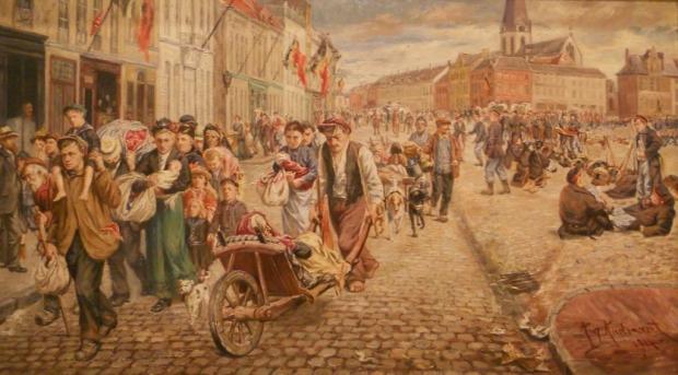 August Audenaert, Vluchtelingen op de markt van Sint-Niklaas