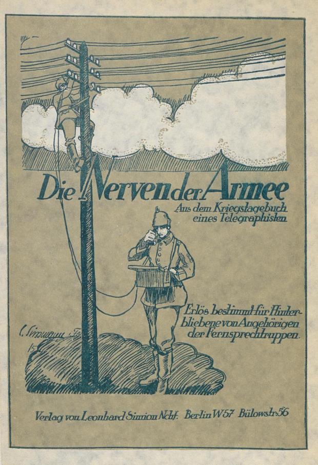 Titelpagina uit een oorlogsdagboek van een Duitse telegrafist