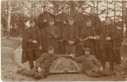 Alfons Dierickx, krijgsgevangen in Assen (privé-collectie Karen Dierickx)