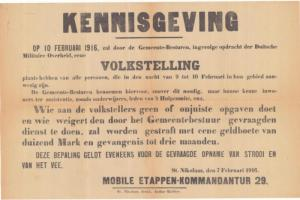 volkstelling februari 1916