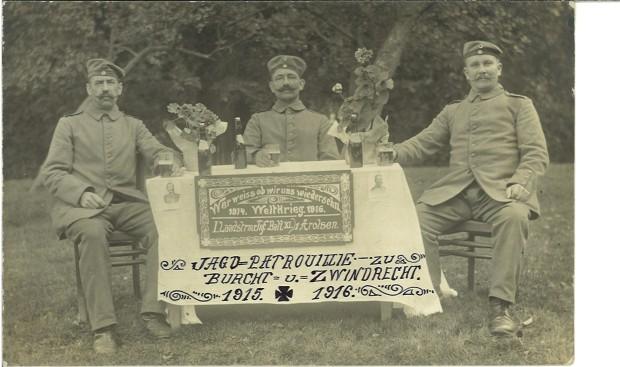 Duitse jachtpatrouille, ingekwartierd in Burcht en Zwijndrecht. Collectie Guido Hullebroeck